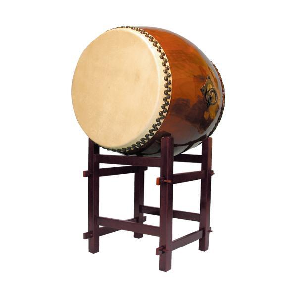 【和太鼓】長胴太鼓2.0尺(耳無し) 高台座付き 送料無料
