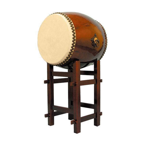 【和太鼓】長胴太鼓1.6尺(耳無し) 高台座付き 送料無料