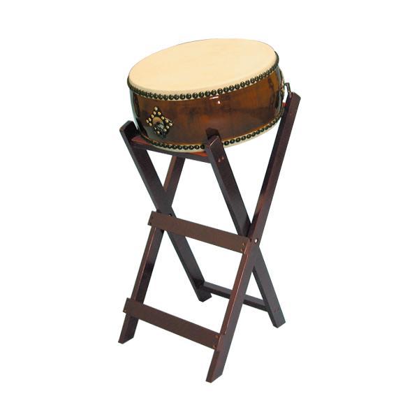 【和太鼓】平太鼓1.4尺 立台座、バチ付 送料無料