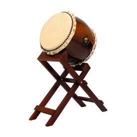 【和太鼓】長胴太鼓1.2尺(巻耳) 斜め台座付き