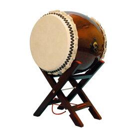 【和太鼓】長胴太鼓1.6尺(巻耳) エックス台座付き 送料無料