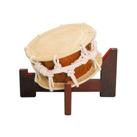 締太鼓30cm(ひも締め・あわせ胴) 木製座り台座セット