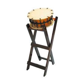 締太鼓35cm(ボルト締め・くりぬき胴) 立台座セット