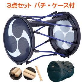 【3点セット】ローランド Roland 電子和太鼓 TAIKO-1・ホオバチ(小40)・桶太鼓ケース付