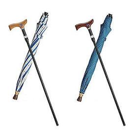 敬老の日ギフト撰[送料無料]フランスベッド 傘なるステッキUVカット機能/傘の支柱に杖を収納[▼送無]