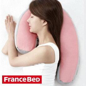送料無料 安眠のための横向き寝枕 フランスベッド スリープバンテージピロー頭・首・肩・背中をしっかりサポート正しい姿勢で眠れ、いびき対策にも(お祝い/ギフト/プレゼント/贈り物 父の日ギフト 感謝 還暦祝い 健康)