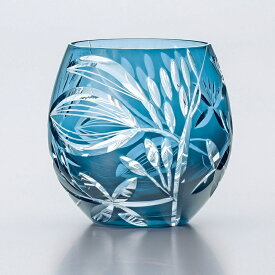 ギフト 切子 グラス フリーグラス 手づくり サキシマボタンヅル350ml 1個入り 東洋佐々木ガラス