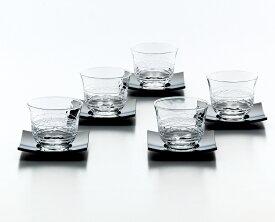 冷茶グラス 冷茶セット5客茶托付き170ml グラス 夏景色 GO53-T160 ギフト 4906678146599