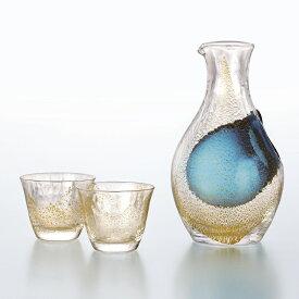 東洋佐々木ガラス とっくり おちょこ 酒グラスコレクション 冷酒セット 金箔 木箱入り 徳利 300ml 盃 80ml