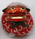 《新作》 ちりめんお手玉 獅子舞型お手玉 赤色系 日本製です。 〈おもちゃ 日本...