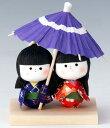 手づくり民芸 和柄 和紙人形 わらべ相合傘 日本製です。 ○本品の色・柄は当店にお任せ頂くようになります。 〈日本人形 合い合い傘 相々傘 童あいあいがさ 和の...