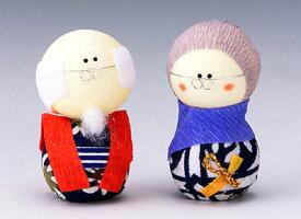 手づくり民芸 和柄 和紙人形 起き上がりこぼし 起き上がり祖父母セット 日本製です。 ○本品の色・柄は当店にお任せ頂くようになります。 〈日本人形 七転八起 七転び八起き おじいさん・おばあさん人形 おじいちゃん・おばあちゃん 紙人形 通販〉
