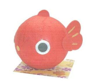 《新作》 手づくり民芸 起き上がりこぼし 和柄 和紙飾り 和紙ころころ金魚ちゃん ころころきんぎょ飾り 日本製です。 〈和紙どうぶつ飾り 起き上がり飾り 和の置物 日本の