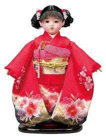 送料無料 平安豊久作 市松人形 13号 正絹刺繍 赤 〈平安豊久 いちまつにんぎょう いちまさん 日本人形 和人形 和服衣装着人形 伝統人形 衣裳着人形 衣装着人形 着物人形 女の子のお人形 おにんぎょう 伝統工芸品 通販〉