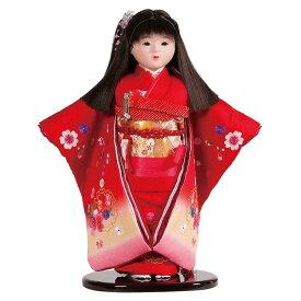 送料無料 平安豊久作 市松人形 13号 刺繍 赤ボカシ 〈平安豊久 いちまつにんぎょう いちまさん 日本人形 和人形 和服衣装着人形 伝統人形 衣裳着人形 衣装着人形 着物人形 女の子のお人形 おにんぎょう 伝統工芸品 通販〉