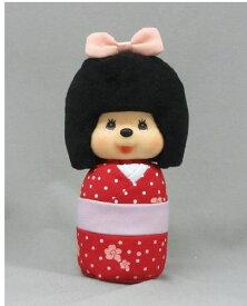 カラフルな色味とおかっぱスタイルがとってもキュート♪ モンチッチ ぬいぐるみ こけしモンチッチ 赤 レッド 〈Monchhichi もんちっち キャラクター縫い包み 縫いぐるみ ヌイグルミ kokeshi doll おもちゃ 玩具 こけし 通販〉