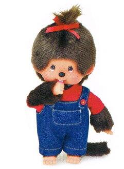 monchitchi nuigurumi monchitchi S女人的孩子连裤工作服(红)〈Monchhichi monchitchi人物填充玩具长毛绒玩具nuigurumi邮购〉