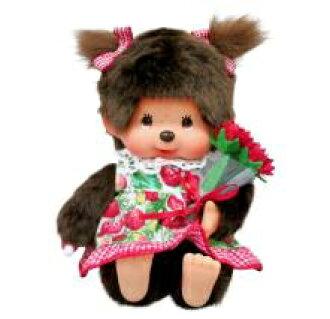 monchitchi nuigurumi Monchhichi fleur草莓礼服〈Monchhichi monchitchi人物填充玩具长毛绒玩具nuigurumi邮购〉