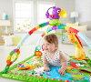 玩具玩具在針對愉快能玩的玩具、嬰兒的玩具歐美超人氣! 供Fisher-Price被褥墊子的健身房雷恩福裏斯特華麗健身房II DFP08〈小孩小孩的玩具幼兒玩具嬰兒使用的室內玩具俯卧遊戲睡覺〉