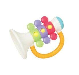玩具 楽しく遊べるおもちゃ・ベビー向けおもちゃ 赤ちゃんが持ちやすいガラガラおもちゃ 無塗装・NOネジで安心安全! 3182 ラ♪の音のラッパ 〈子供用 子ども 幼児用 赤ちゃん用 あかちゃん 乳児 ベビーグッズ ラトル らっぱ 知育〉
