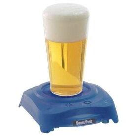 玩具 楽しく遊べるおもちゃ 超音波をグラスに伝え、ビールに極上の泡を! ビールアワーシリーズ ソニックアワー ブルー 〈大人用玩具 おとな おもちゃ バラエティトイ ビールの泡を作る機械 超音波で作るあわ 麦酒 beer 通販〉