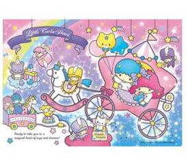 アニメーションジグソーパズル 趣味のパズル サンリオシリーズ 108ピース 【108-777 キキ&ララのおもちゃばこ】 かわいいハートケース入り! 〈Sanrio Little Twin Stars jigsaw puzzle 玩具 おもちゃ リトルツインスターズ 108ピース知育〉