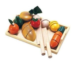 玩具 楽しく遊べるおもちゃ 包丁でざくっと切っておままごと 森のあそび道具シリーズ ままごといっぱいセット 〈子供用玩具 子ども こどものおもちゃ 幼児 木のおもちゃ ごっこ遊