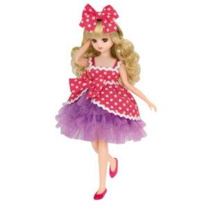 玩具 楽しく遊べるおもちゃ・着せ替え人形 リカちゃん人形 きせかえドレス LW-10 フリフリピンクドット ※人形は別売です 〈大人・子供向けおもちゃ 女の子向け コレクション ファ