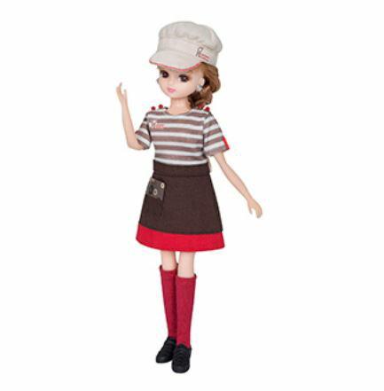 玩具 楽しく遊べるおもちゃ・着せ替え人形 リカちゃん人形 きせかえドレス ミスタードーナツてんいんさんドレス ※人形は別売です 〈大人・子供向けおもちゃ 女の子向け コレクション ファッションドール 香山リカ Licca-chan 洋服 衣装 着替え〉