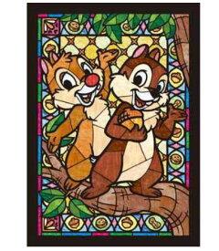 アニメーションジグソーパズルシリーズ 趣味のパズル ディズニーシリーズ ステンドアートジグソーぎゅっと266ピースパズル 【DSG-266-749 チップ&デール ステンドグラス〈ステンドアート〉】 〈Disney jigsaw puzzle 玩具 おもちゃ 266ピース知育〉