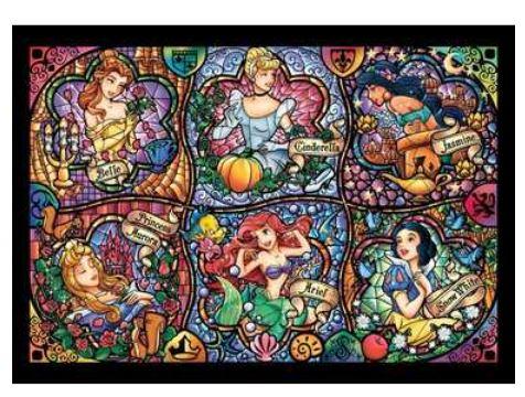 アニメーションジグソーパズルシリーズ 趣味のパズル ディズニーシリーズ ステンドアートジグソー&ぎゅっとサイズ 500ピースパズル 【DSG-500-419 ブリリアント プリンセス】 〈ディズニープリンセス ディズニーヒロイン 玩具 500ピース知育〉
