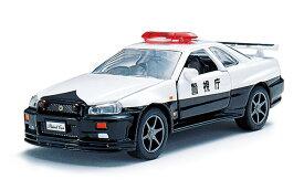 緊急車両コレクション ミニカー 趣味の玩具・模型 警察車両 警視庁 高速パトカー日産スカイラインGT-R(R34) パトロールカー 1/43スケール DK-3101 〈自動車模型 車両模型 日産自動車 じどうしゃ 男の子のオモチャ Diapet ダイヤペットブランド〉