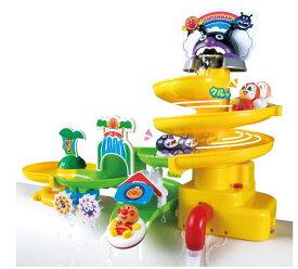玩具 楽しく遊べるお風呂のおもちゃ それいけ!アンパンマン 遊びがいっぱい! NEWスプラッシュおふろスライダー お片付けネット付き 〈子供用玩具 こどものおもちゃ 子どもの遊び 幼児 あんぱんまんのオモチャ お風呂 水遊び バストイ 通販〉