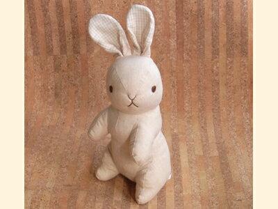 ぬいぐるみ オーガニックコットン(有機栽培綿) ラビット うさぎ (立ち/無地) 〈動物 どうぶつ 兎 兔 ウサギ 玩具 おもちゃ ヌイグルミ 縫い包み 縫いぐるみ プレゼント・ギフト・贈り物にもおススメです☆ 通販〉