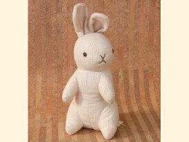 ぬいぐるみ オーガニックコットン(有機栽培綿) ラビット うさぎ (立ち/チェック) 〈動物 どうぶつ 兎 兔 ウサギ 玩具 おもちゃ ヌイグルミ 縫い包み 縫いぐるみ プレゼント・ギフト・贈り物にもおススメです☆ 通販〉
