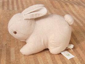 ぬいぐるみ オーガニックコットン(有機栽培綿) ラビット うさぎ (這い/無地) 〈動物 どうぶつ 兎 兔 ウサギ 玩具 おもちゃ ヌイグルミ 縫い包み 縫いぐるみ プレゼント・ギフト・贈り物にもおススメです☆ 通販〉