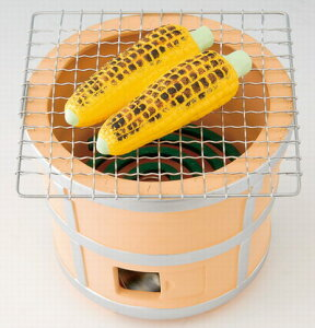 夏ものがたり 陶器製 七輪蚊遣器 玉蜀黍 焼きとうもろこし 陶器蚊取り線香入れ 渦巻型の蚊取り線香を中に入れてご使用いただけます! 〈蚊遣り器 蚊やり器 蚊取り線香入れ 蚊取