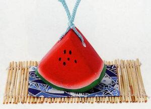 涼をお届け! 夏ものがたり 土鈴・福鈴 西瓜・スイカ earthenware goods 〈どれい・ふくりん 和のインテリア お飾り すいかの置物 お土産・贈り物・ギフト・プレゼントにもおスス