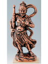 仏像シリーズ ブロンズカラー(青銅色)塗装 陶器製 仏像 【仁王・金剛力士像 阿形】(大) 瀬戸物 日本製です。…
