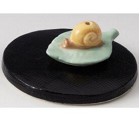 癒しの空間を演出! 陶器製 季節のお香立て 6月、水無月の香炉 梅雨のカタツムリ 台付きです。 〈和の置物・インテリア アート 四季のお香たて 贈り物・プレゼントにも人気です! 通販〉
