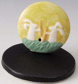 癒しの空間を演出! 陶器製 季節のお香立て 9月、長月の香炉 十五夜の餅つき兎 月の兎 台付きです。 〈和の置物・インテリア アート 四季のお香たて 贈り物・プレゼントにも人気です! 通販〉