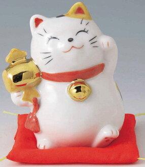 幸运来開運招福的吉祥物,嘲笑的门!  邀请瓷器制造散场的小木槌持久性财产幸运招财猫猫高10cm Beckoning Cat Welcoming Cat Lucky Cat Fortune Cat〈猫猫陶器的陈设品和睦的室内装饰动物的有名无实的领导〉