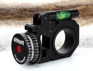 狙撃用水平器ミリタリーサバイバルゲームスナイパー角度計測器25.4 30mmスコープマウント【領収発行可】