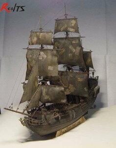 黒真珠 木製船 1/96スケール 船 帆船 ボート ヨット 木製 模型 モデルキット プラモデル キット 組み立て式【領収発行可】