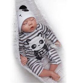 ●リボーンドール リアルな新生児 熟睡中の男の子 高級 海外 赤ちゃん人形 ベビー人形 ベビードール 抱き人形 衣装付き 綿&シリコン50cm