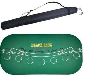 カジノテーブルー クロス ポーカーテーブル ブラックジャック ポータブルバッグ付き【領収発行可】
