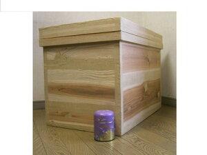 茶箱 40kg 【LLサイズ】W675×D430×H520 日本製 保管に便利!職人が一つ一つ手作りしたお茶箱 (茶葉・お米・麺類・写真・御朱印帳など)