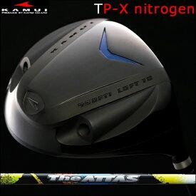 【Kamui/カムイ】TP-X NITROGEN (窒素ガス封入) Typhoon Pro DRIVER窒素ガスタイプ/フェースマーク赤ドライバーTHE ATTAS(ジ・アッタス)カーボンシャフト