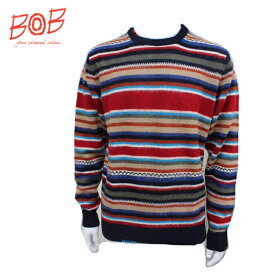【BOB ボブ 】メンズ ボーダーセーター072792710