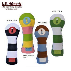 【N.E.Hutte/エヌイー ヒュッテ】ドライバーカバー ヘッドカバー日本製帆布キャンバスシリーズ